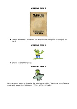 Creative Writing - Primary level activity book - story ideas and activities