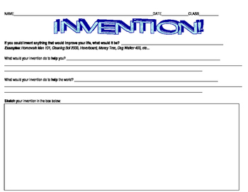 Creative Writing Project: Invention