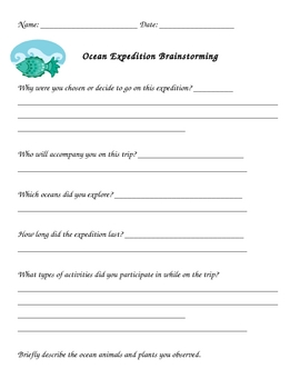 Creative Writing Project - Ocean Expedition Story