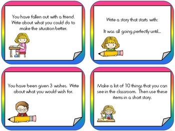 Creative Writing Prompt Cards