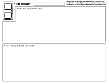 """Creative Writing Prompt """"The Door"""" Back to School"""