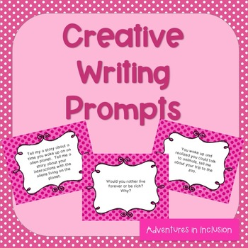 Creative Writing Centers Writing Prompts