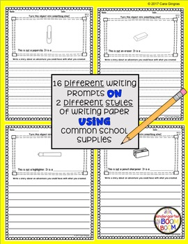 Creative Writing Prompts - Back To School