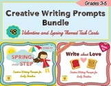 Creative Writing Prompts Bundle, Valentine and Spring Theme, Grades 3-5