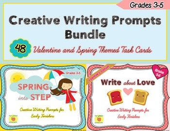 Creative Writing Prompts Bundle, Valentine and Spring Them