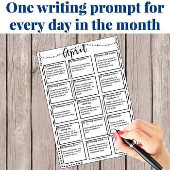 Creative Writing Prompts for April