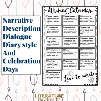 Back to School Creative Writing Prompts for August