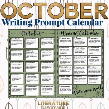 Creative Writing Prompts for October
