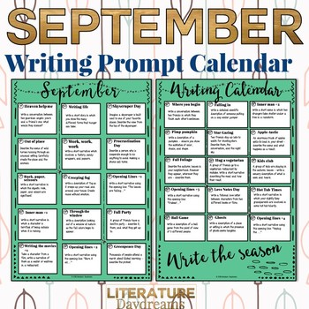 Creative Writing Prompts for September