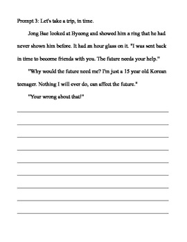 Creative Writing Prompts For Middle School Students by John Thompson