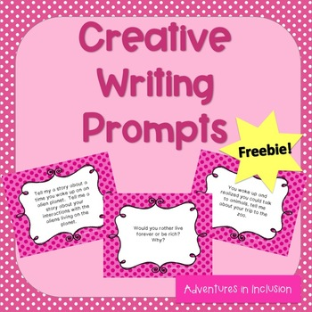 Creative Writing Centers Prompts Free Preview!