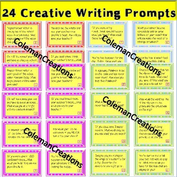 Creative Writing Prompts (Writing Center)