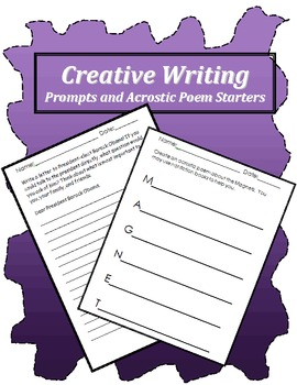 Creative Writing-Prompts and Poem Starters