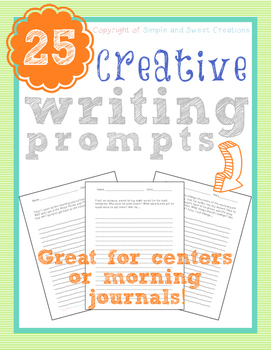 Creative Writing Prompts and Story Starters Writing Center