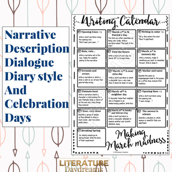 Creative Writing Prompts for March