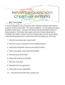Creative Writing- Reverse Writing-Set 2- Easy