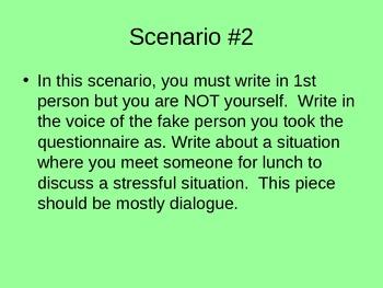 Creative Writing Scenarios to Use as a Preview to Camus' The Stranger