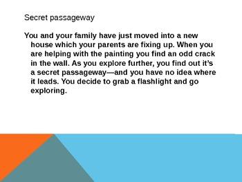 Creative Writing- Secret Passageway