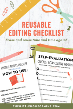 Creative Writing - Self-Evaluation Checklist for Elementary Students