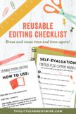 Reusable Editing Checklist for Creative Writing