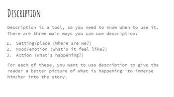 Creative Writing Semester Lessons