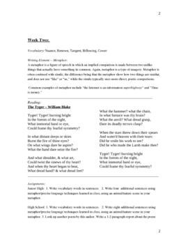 Creative Writing Semester Packet