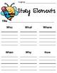 Creative Writing Set - Bundle - Story Map, Story Elements