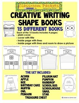 Creative Writing Shape Books - Assorted