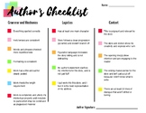 Creative Writing - Short Stories - Author's Checklist