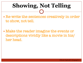 Creative Writing: Showing, Not Telling