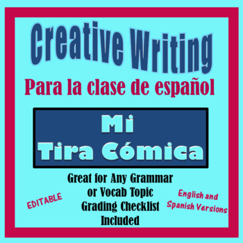 Spanish Creative Writing Activity - Spanish or Other  - Mi Tira Comica