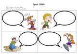Creative Writing Speech Bubbles Worksheet