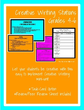 Creative Writing Stations or Task Cards