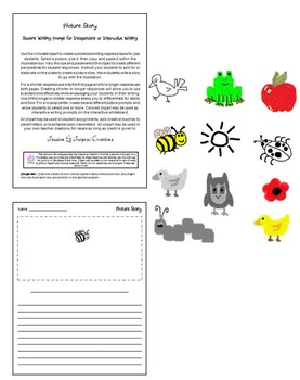 Writing with Editable Picture Prompts - Fun Story Writing Center!