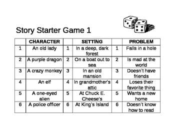 Creative Writing Story Starter Game