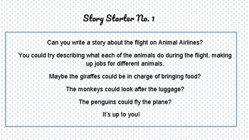 Creative Writing Story Starter Task Cards