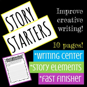 Creative Writing- Story Starters Set
