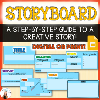 Creative Writing Storyboard - 5 Elements of a Great Story