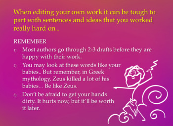 Creative Writing Strategies 7: Final Touches and Editing