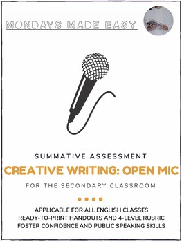 Creative Writing | Summative Assessment and Rubric | Open Mic