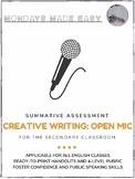Creative Writing   Summative Assessment and Rubric   Open Mic