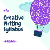 Creative Writing Syllabus {editable}