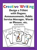 Creative Writing / Book Report T-Shirt Activity - Design and Label 1 T-Shirt