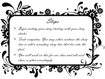 Creative Writing Tandem Writing Lesson Activity