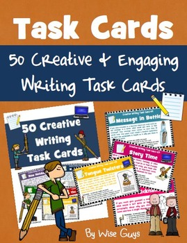 Creative Writing Task Card Activity Bundle