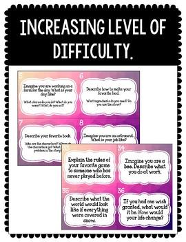 Creative Writing Task Cards
