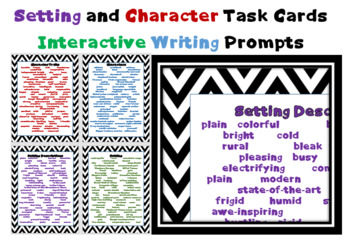 Creative Writing Task Cards - printable - interactive writing