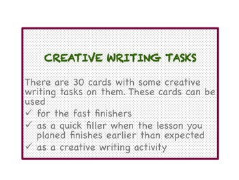 Creative Writing Tasks