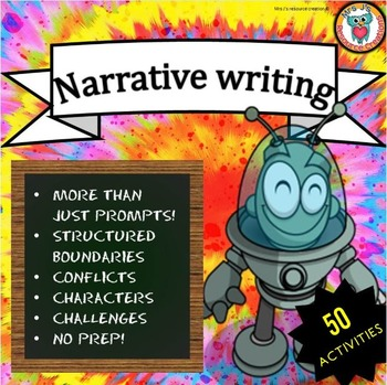 Narrative Writing Prompts {Worksheets and Task Cards} - Set of 50