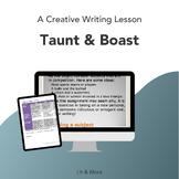 Creative Writing Lesson on Taunt & Boast